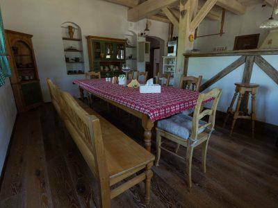 apartmány - společné prostory, jídelna